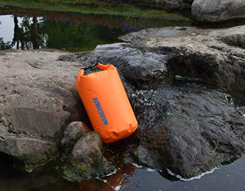 MARCHWAYドライバッグ防水リュックロールトップドラム型5L/10L/20L/30L/40Lアウトドアカヤックラフティングボート水泳温泉キャンプハイキングビーチお釣り(深いオレンジ,10L)