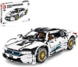 ZJLA Technic Car Advanced - Juego de construcción para coche BMW I8, juego de construcción de coches deportivos técnicos, 1270 piezas de bloques compatibles con Lego Technic