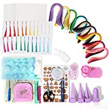 KISSTAKER Paper Quilling Kits-900 Strips 18 Kinds Quilling Tools-Plus 24pcs Bookmarks with Tassels & 10pcs Blank Cards-All-in-One for Starter-DIY Quilling Art Craft Supplier