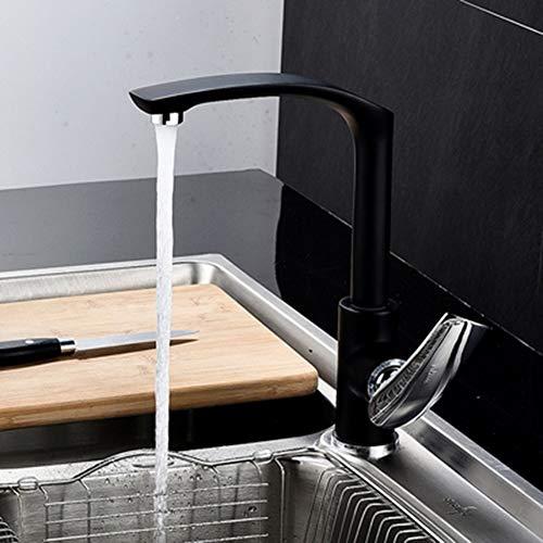 Swivel keukenkraan koperen wastafel kraan badkamer kraan wastafel overstroming wastafelmengkraan Zwart/Chrome/Gold/groen/rood/oranje Rood wastafel kraan Chrome,F