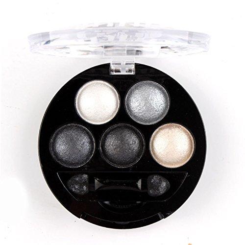 Ombre à paupières Palette Outils de Maquillage Voyage Écologique Professionnel 5 Poudre Poudre Métal Chatoyant (6 Couleur Choisie),Colorful