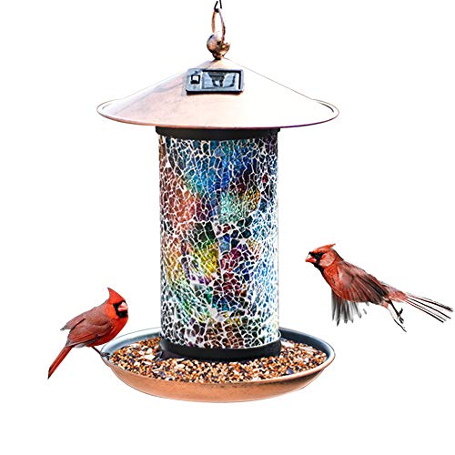 XDW-GIFTS Solar Bird-Feeder for Outside Hanging Outdoor -...
