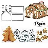 Romote 18pcs / Set 3D Weihnachten Ausstechformen Mini Edelstahl-plätzchen-weihnachtsplätzchen-schnittmeister Formt DIY Backen-Werkzeuge
