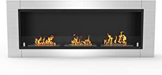 Regal Flame Lenox 54 Inch Ventless Built In Recessed Bio Ethanol Wall Mounted Fireplace