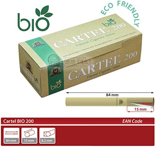 Cartel Filterhülsen Bio 1000 Stück - 5 x 200 Hülsen Zigarettenhülsen Cigarette Tubes