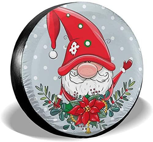 Greeting Christmas - Funda para llanta de repuesto,poliéster,universal,de 15 pulgadas,para rueda de repuesto,para remolque,RV,SUV,rueda de camión,camión,autocaravana,accesorios de remolque de viaje
