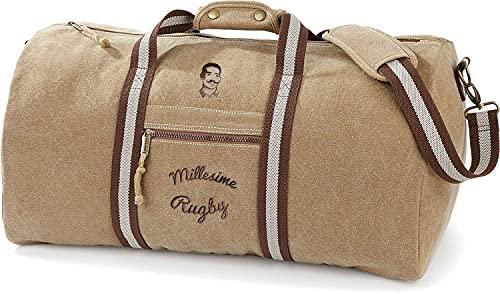 Millésime Rugby - Borsone sportivo vintage, colore: sabbia