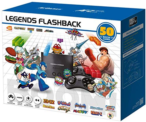 ATGames FB8650 Legends Flashback Boom 50 Game HDMI Video Output Gaming Console with 2 Wired Controllers (Renewed)