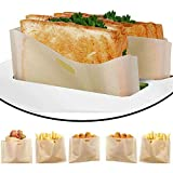 DECARETA 6 Pezzi Sacchetti per Tostapane Antiaderente Sacchetti per Toast Riutilizzabili Fino a 100 Volte Tostapane Base per Forno a Microonde Tostapane Grill Piastra (16 * 16,5 cm)