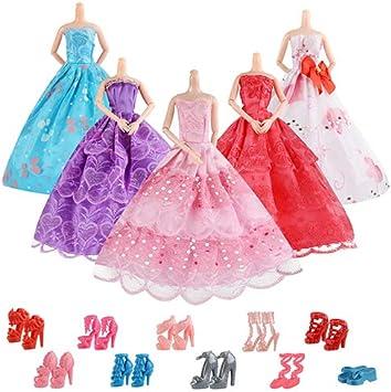 Aitefeir Abiti Barbie 15 Articoli Inclusi 5 Pezzi Abbigliamento Casual Moda 1 Abito Da Sposa Con 10 Paia Di Scarpe Per Barbie Doll Christmas Xmas Gift Christmas Xmas Gift Amazon It Giochi E Giocattoli