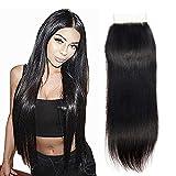 LA 25cm-50cm Lace Closure Human Hair Remy Virgin Brazilian Hair Closure natürliches brasilianisches haare menschliches haar 4 x 4 Free Part Lace Frontal Closure brasilianische haare glatte 45cm