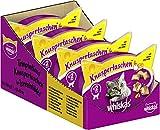 Whiskas Katzensnacks Knuspertaschen mit Huhn & Käse, 8 Packungen (8 x 60 g)