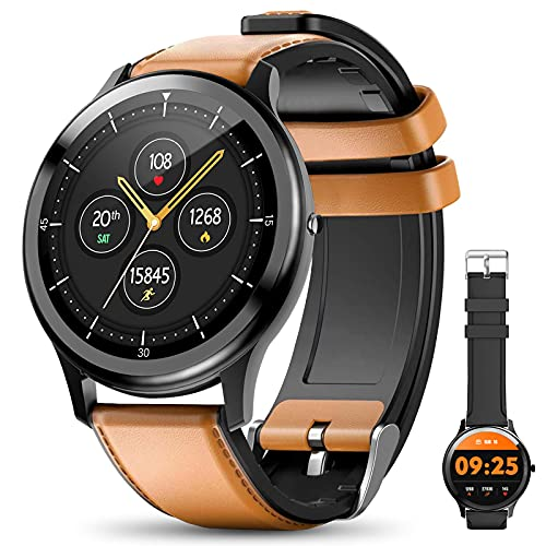 SmartWatch, 1,3'' Fitness-Tracker Herren IP68 Wasserdicht, mit Touchscreen, Intelligente Sport-Armbänder für Männer Sport-Monitor, Schrittzähler Stoppuhr Herzfrequenz-Monitor für iOS Android