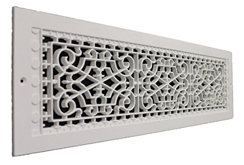 SMI Ventilation Products VWM628 Cold Air Return - 6 in x 28 in Victorian Style Wall Mount - Overall Dimensions 8 in x 30 in