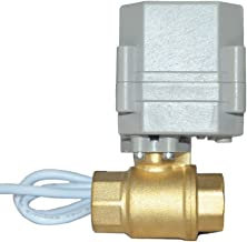 Two Way Five-Wires Control Normally Closed Brass 1 Inch AC110-230V Motorized Ball Valve with Position Indicator