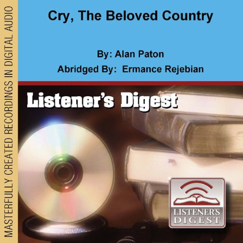 Cry, the Beloved Country audiobook cover art