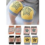 Rodilleras antideslizantes de arrastre unisex para bebés, rodilleras para niños pequeños Protectores contra el arrastre 4 pares