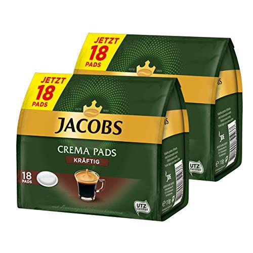 Jacobs monodosis Crema Pads, kräftig, Intensivo & vollmundiger Sabor, Café, 32Cápsulas