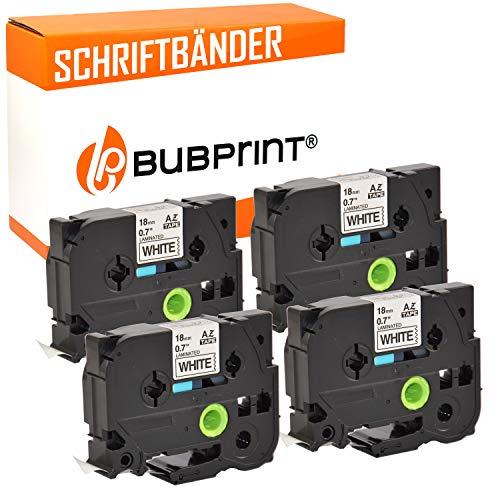 Bubprint 4 Schriftbänder kompatibel für brother TZE-241 TZE 241 für P-Touch 1000 1750 1800 1850 1950 210E 220 2400 2430pc 2450dx 2460 2470 2480 18mm