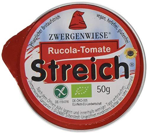 Zwergenwiese Rucola-Tomate 50g Bio Brotaufstrich Vegetarisch, 12er Pack (12 x 50 g)