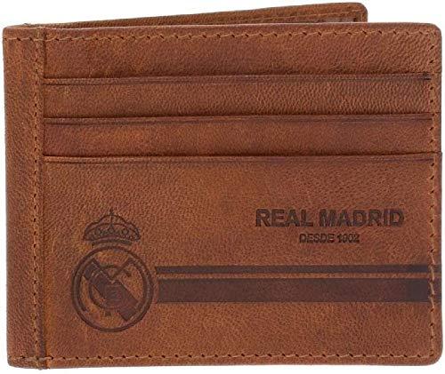 Real Madrid Outside Tarjetero, 10 cm, 0.07 litros, Marrón