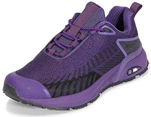 Hsyooes Męskie buty do biegania fitness, damskie buty do biegania w terenie, przepuszczające powietrze, buty sportowe do chodzenia po górach, liliowy - A Fioletowy - 40 EU
