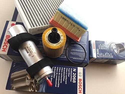 Bosch Ölfilter Luftfilter Aktivkohlefilter Kraftstofffilter A4 B8 A5 8T Q5 8R 2.0 TDI - Motorcode CAHB , CAGA , CAGB, CAGC