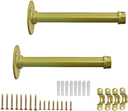 Plankdragers 2 stuks, drijvende heavy duty console houder, wandmontage plankdrager, plankhoek metaal met schroeven, voor k...