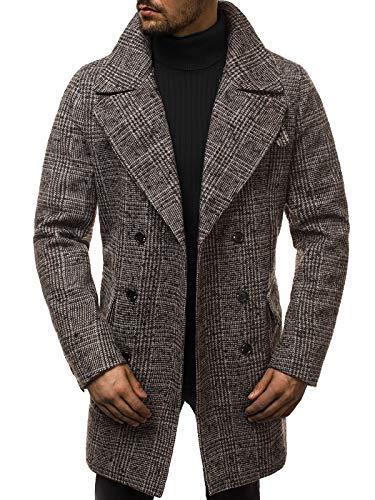 OZONEE herenmantel winterjas trenchcoat jas overgangsjas Coat Winter herfst lang warm kraag reverskraag elegant klassieke outdoor bekleed J.Style 506