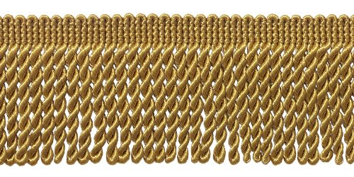 DÉCOPRO 10 Yard Value Pack 2.5 Inch Bullion Fringe Trim Style# EF25 Color: C4 - Antique Gold 9.5 Meters / 30 Ft