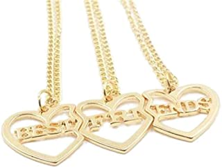 Weahre 3 PCS Best Friends Three Part Charm Necklaces Christmas Birthday for Family Members, Friends