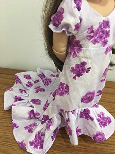 """Train Dress Fits 16"""" A Girl For All Time Doll Clothes Gown Hawaiian Luau Inspired Handmade NO DOLL"""