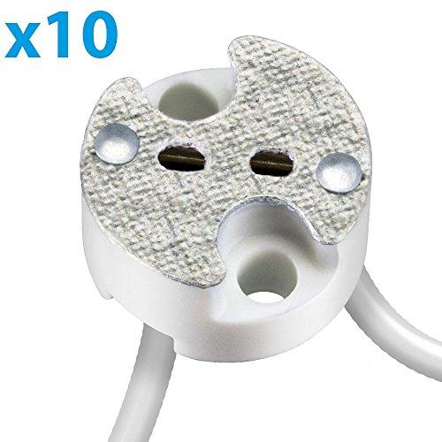 Universele fitting van keramiek voor G4, G5. 3, GY6 laagspanningssokkel 12 V max. 25 W, 10 stuks