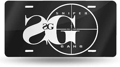 Mr.Rirubaidan Designs Sniper Gang Design Novelty Vanity License Plates Tag Sign 6 Inch X 12 Inch