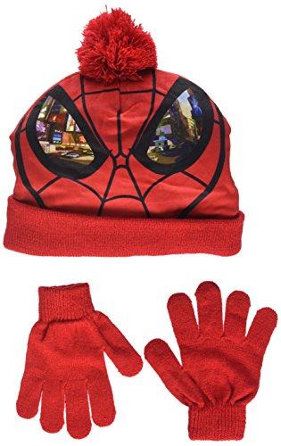 DC Comics Spiderman Eyes Set de bufanda, gorro y guantes, Rojo (Red 18-1663TC), 2.5 para Niños