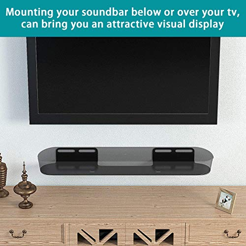 Wall Mount for Sonos Beam Soundbar Brackets Compatible with Sonos Beam Sound Bar Mounts Mounting Bracket