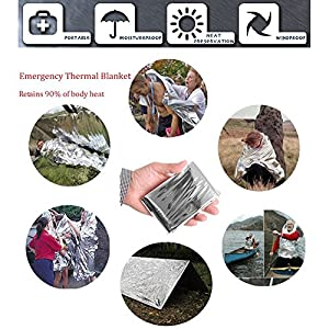 Emergency Survival Kit 13 in 1, XUANLAN Outdoor Survival Gear Tool with Survival Bracelet, Folding Knife, Compass, Emergency Blanket, Whistle, Tactical Pen for Camping, Hiking, Climbing