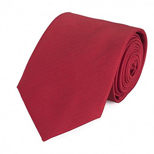 Fabio Farini - Cravate unie élégante en différentes couleurs au choix rouge 8 cm