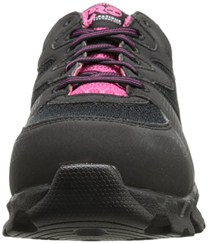 Timberland PRO Women's Powertrain Alloy Toe ESD W Industrial Shoe,Black/Pink Microfiber And Textile,8 M US