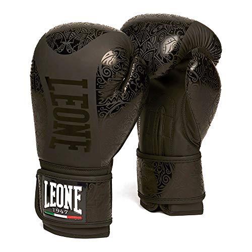 Leone 1947 Maori Boxhandschuhe für Erwachsene, Unisex, Schwarz, 10 oz