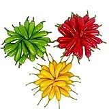 60 piezas de chile pequeño artificial Simulación Pepper Mini de tres colores (rojo + amarillo + verde) Pequeños pimientos picantes Realistas Vegetales falsos Decoración para el hogar Cada Color 20Pcs