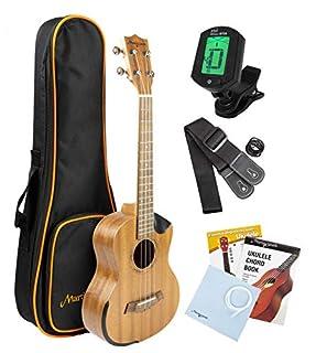scheda martin smith vera sapele legno 26 pollici tenore ukulele kit con custodia imbottita ukulele sintonizzatore e aquila stringhe