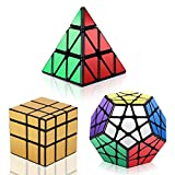 Vdealen - Juego de 3 x 3 x 3 x 3 x 3 x 3 x 3 x 3 x 3 cm, Espejo Dorado, puzle de Cubo, Color Plateado