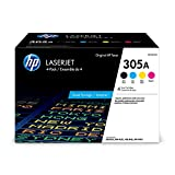 HP 305A | CE305AQ1 | 4 Toner Cartridges | Works with HP LaserJet Pro Color M451 series, M475 series, M375nw | Black, Cyan, Magenta, Yellow