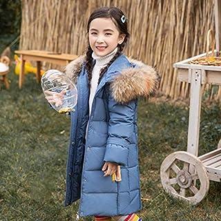 FDSAD Chaqueta Térmica para Niñas Niñas Largas Ropa Gruesa para Niños Chaqueta De Invierno Adecuada para Altura 120 Cm Azul