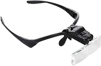 Tkstar Loupe 5 verres interchangeables 1,0x - 3,5x r/éparations horlogerie bijouterie orthodontie t/él/éphones portables avec lumi/ère LED Id/éale pour mod/élisme broderie