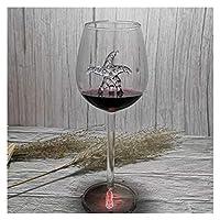 Home+ウイスキーグラス, シャークワイングラスクリスタルワイングラスホウケイ酸ガラスカクテルワイングラスワイングラス (Color : Starfish 21cm)