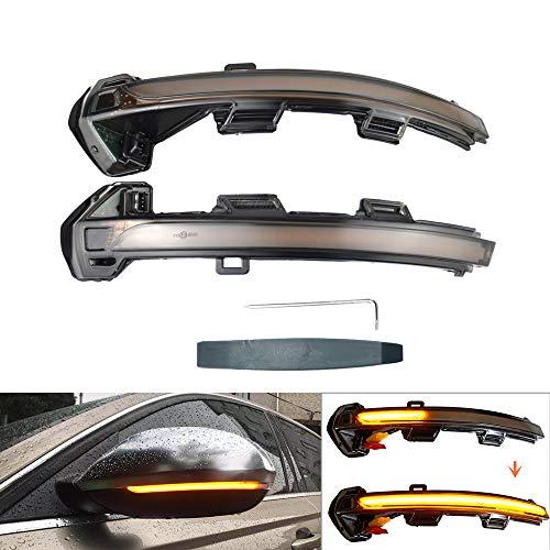 Links Rechts Spiegelblinker Dynamische LED Blinkerleuchten Blinker für Passat B8 Variant 2015-2019, Arteon 2016-2017, mit E-Prüfzeichen