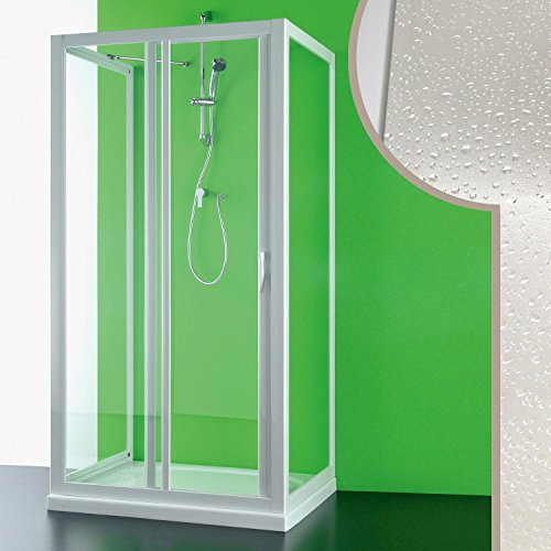 Cabine douche 3 côtés 90x150x90 CM en acrylique mod. Mercurio avec ouverture laterale