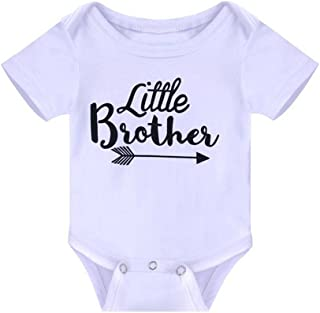 Weixinbuy Baby Girls' Sister & Brother Sibling Shirts Matching Rompers